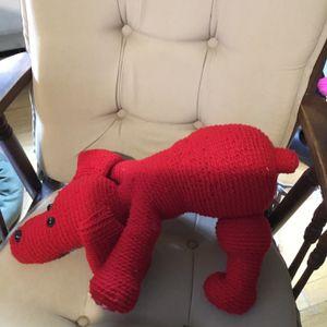 Big Red Hand Crochet Dog for Sale in Mechanicsville, MD