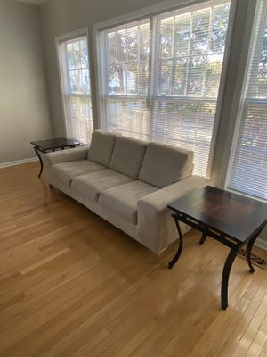 Suede couch for Sale in Raleigh, NC