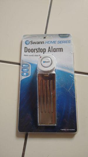 New swann doorstop security alarm, door jam stop safety, 120 db, battery powered, alert for Sale in San Diego, CA