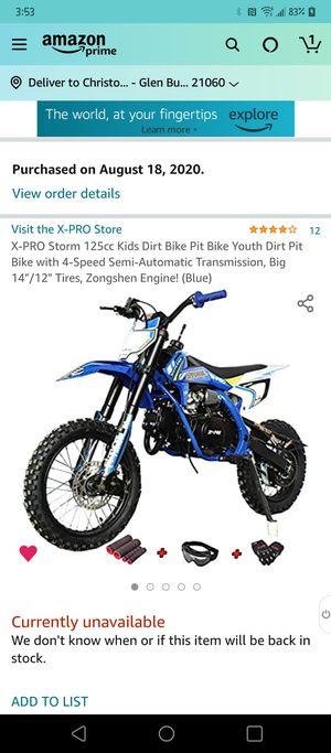 Youth Dirt Bike for Sale in Glen Burnie, MD