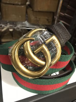 Gucci Brass GG Webbed Belt *Authentic* for Sale in Queens, NY
