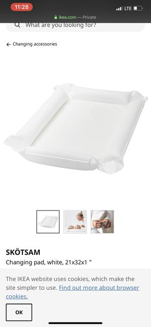 IKEA inflatable baby changing pad with cotton cover for Sale in Fremont, CA