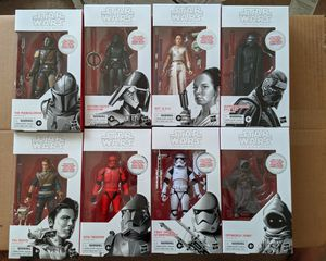 NEW SEALED rare Hasbro complete set Star Wars BLACK series ACTION FIGURES for Ep. 9 all First Editions in rare white box for Sale in Arcadia, CA