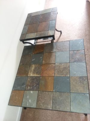 Stone coffee table w/ matching end table for Sale in Roanoke, VA
