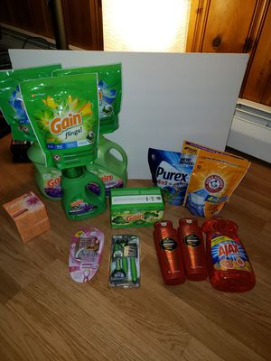 Household Bundle Gain, Bic, Purex, Arm & hammer and more $80+ value for Sale in Victoria, VA