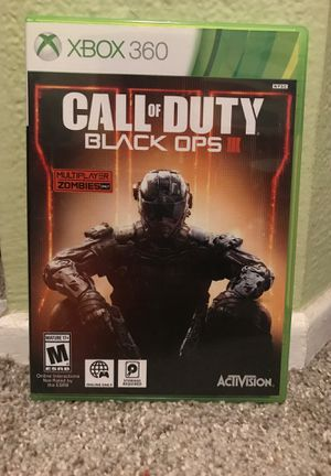 Call of Duty Black Ops 3 xbox 360 for Sale in Aliso Viejo, CA