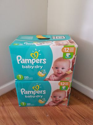 Pampers diapers size 1 : 120 count for Sale in Manchester Township, NJ