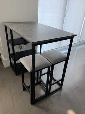 ON HOLD - Super Cute Kitchen Set with Table with shelves and 2 stools for Sale in Miami Beach, FL