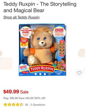 Teddy Ruxpin - The Storytelling and Magical Bear for Sale in Long Beach, CA