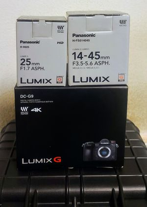 Like new camera bundle with 2 lenses for Sale in Lawndale, CA