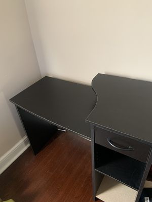 Black office desk for Sale in Millville, NJ