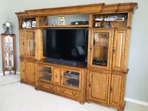 Solid Wood Entertainment Center / Storage / TV Stand for Sale in Crandall, TX