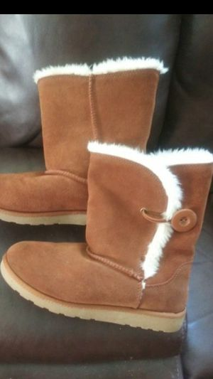 Women's size 5 real leather upper boots for Sale in Norfolk, VA