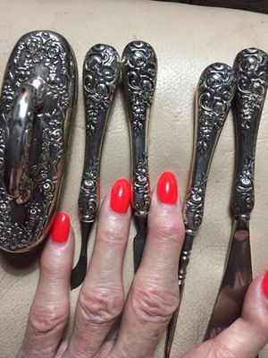 ANTIQUE 5pc STERLING SILVER NAIL SET for Sale in Scappoose, OR