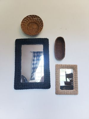 Wicker mirror set for Sale in Rainier, WA