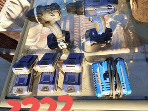 2 Kobalt impact drills and 6 batteries and charger 18 volt for Sale in Stockton, CA
