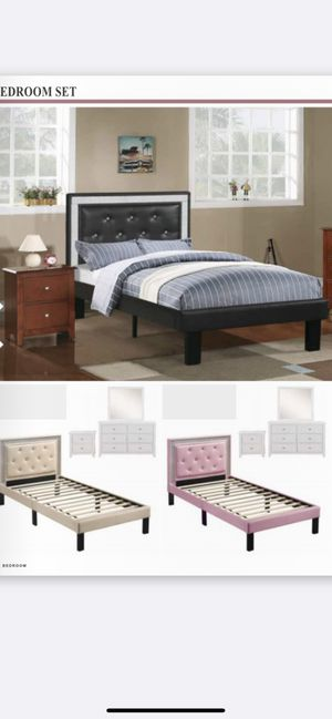 Twin bed frame with mattress included for Sale in Pomona, CA