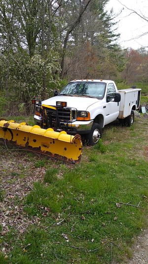 2000 Ford f 350 diesel dually 9 ft plow for Sale in Hebron, CT