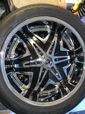 """22"""" wheels and tires used for Sale in Clayton, NJ"""