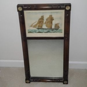 >>Antique Wall Art & Mirror with Beautiful Carved Wood Frame & Gold Accents for Sale in Deerfield Beach, FL