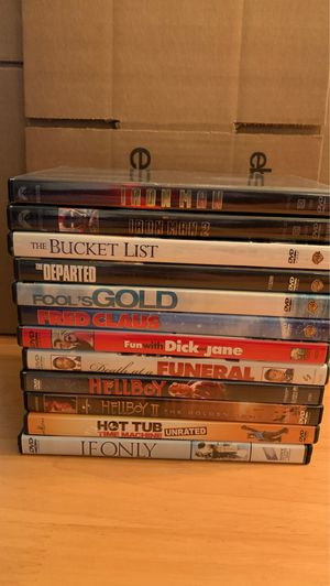 Lot of 12 DVDs - Iron Man, Hellboy, plus others. $30 for the entire lot. for Sale in Elk Grove Village, IL
