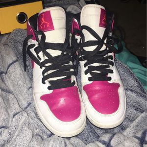 White And Pink Air Jordan's 1 Mid for Sale in Sicklerville, NJ