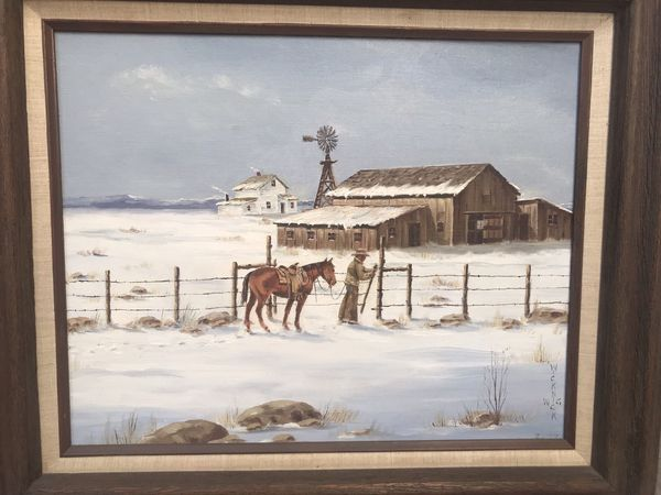 W.G. Wicknick western art painting wall picture