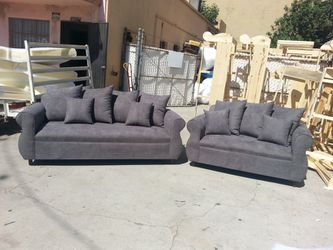 NEW CHARCOAL MICROFIBER COUCHES for Sale in Huntington Beach,  CA