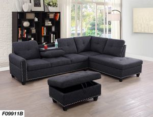 New Sectional Sofa With Storage ottoman for Sale in Austin, TX