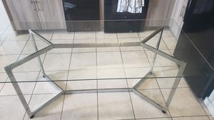 Glass dining table, 4 to 6 chairs for Sale in Princeton, FL
