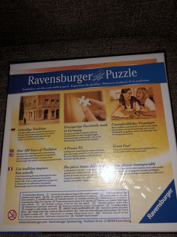 Ravensburger 1000 PCS Puzzle. Please see all the pictures and read the description