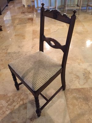 Antique dining chairs - 5 plus 1 arm chair for Sale in Tampa, FL