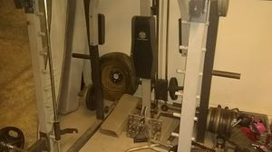 Gold gym Smith/ cable machine weights and barbell not included for Sale in Phoenix, AZ