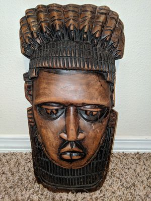 Hand Carved Nigerian Mask for Sale in Tacoma, WA