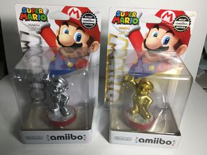 Silver and Gold Mario Amiibo Damaged Box for Sale in South Gate, CA