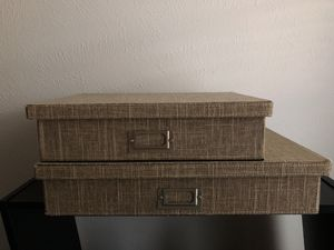Storage boxes (set of 2) for Sale in Dallas, TX