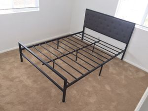 Metal Full Bed Frame with Headboard, #7577F for Sale in Santa Fe Springs, CA