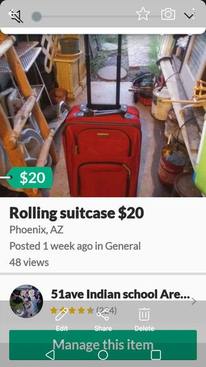 Rolling suitcases $20 each for Sale in Phoenix, AZ