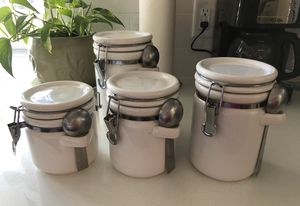 Ceramic crock style storage containers for Sale in Phoenix, AZ