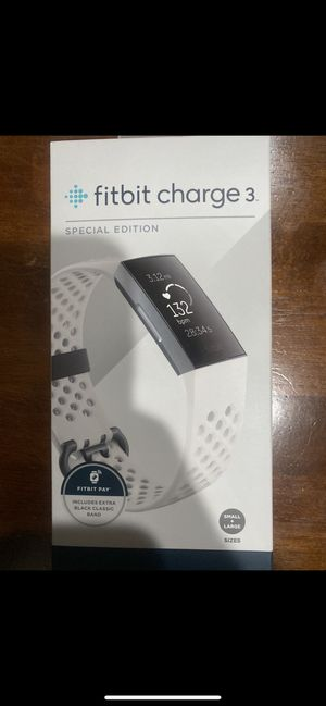 White Fitbit Charge 3 for Sale in Fontana, CA