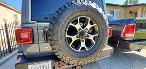 "Jeep Rubicon 33"" tires on 17"" wheels total of 5 for Sale in Los Angeles, CA"