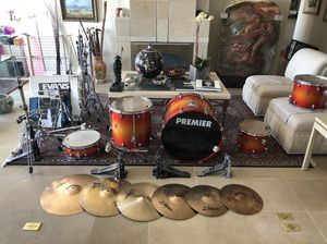 Complete premier Drum set. Even have the chair. It's vintage. And in great shape. OBO for Sale in Salt Lake City, UT