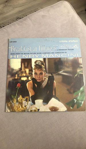 Breakfast at Tiffany's Vinyl Record for Sale in Newport Beach, CA