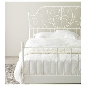 IKEA Leirvik white bed frame for Sale in Los Angeles, CA