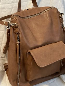 Brown Convertible Backpack Purse for Sale in Federal Way,  WA