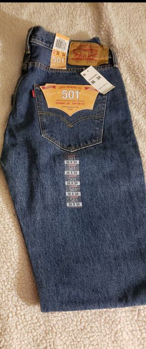 NEW- 501 Levi's Jeans size 36x34 for Sale in Renton, WA