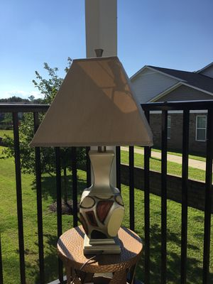 Cream & Brown Table Lamp (set of 2) for Sale in Columbia, SC