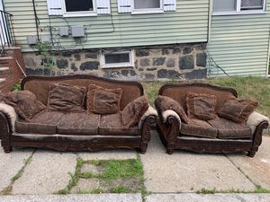 Sofa and loveseat for FREE for Sale in Malden, MA