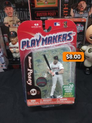 BUSTER POSEY Giants San Francisco Playmakers McFarlane Toys Action Figure Baseball 3.75 for Sale in Alameda, CA