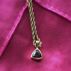 14k Yellow Gold Rope Chain Pendant for Sale in Riverside, CA